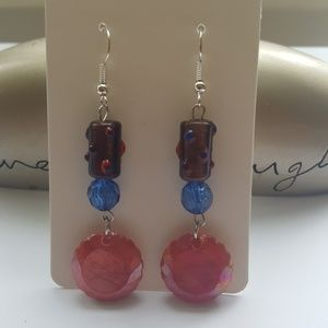 ❤️Red/ 💙Blue/ 💜Dark Purple/ Charmed Earrings 💎